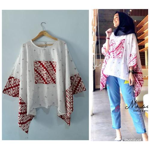 Foto Produk Batwing blus lowo jumputan dari Batik Sri