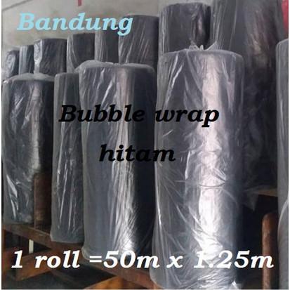 Foto Produk Bubble wrap Hitam 1 roll plastik bable warp Bandung buble black murah - Black dari toserbabandung