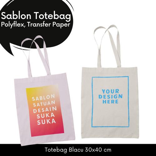 Foto Produk Sablon Tote Bag / Tas Blacu Custom dari Project Tees