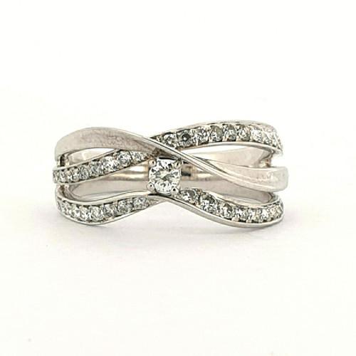 Foto Produk Cincin Emas Berlian Tiffany Diamond Ring - GDR 4450W dari Goldmart Official Shop
