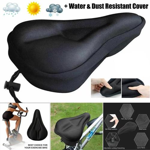 Foto Produk Sarung Jok Sepeda Cover Saddle Silicon Gel Busa Tebal Empuk Anti Slip dari KLIK MOTORSPORT