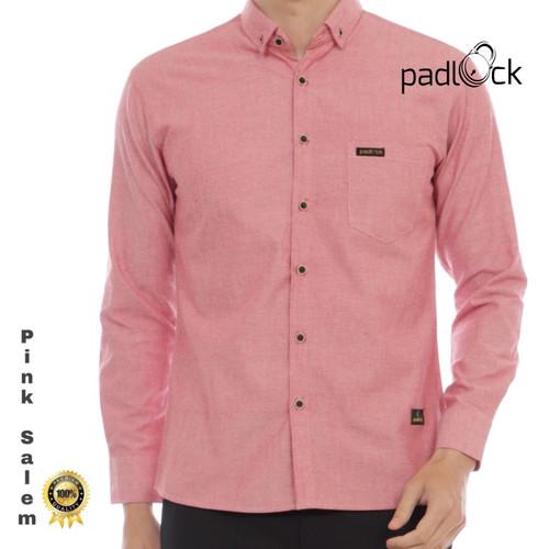 Foto Produk Kemeja Panjang Pria Warna Pink Salem - Pink, M dari padlockID