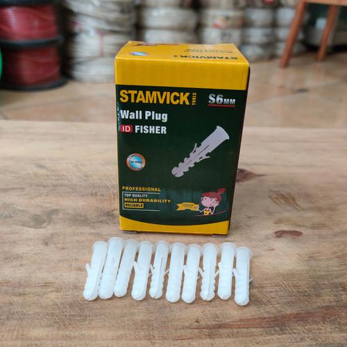 Foto Produk Fisher S6 Stamvick Fiser Viser Piser Nylon Putih Kuat Isi 100 Pcs/Box dari Kids' Fashion