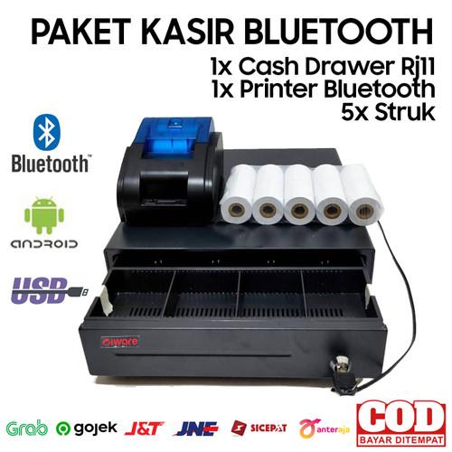 Foto Produk PAKET ALAT KASIR ANDROID BLUETOOTH (CASH DRAWER+PRINTER+KERTAS) dari Importir Scanner Jakarta