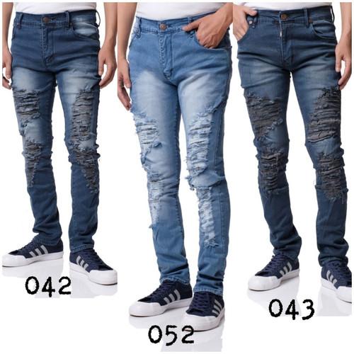 Foto Produk Celana jeans cowok / jeans bikers sobek / jeans pria : / 29-34 dari prodizy