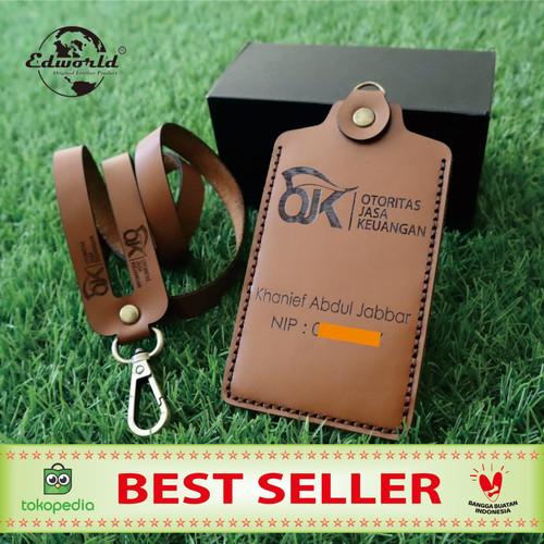 Foto Produk ID CARD HOLDER Dari Kulit Sapi Asli Model 1 Slot Card dari Edworld Premium Store