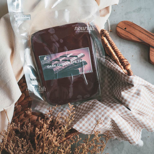 Foto Produk Cau Organic Couverture Chocolate 73% 500 gr (Cokelat Organik) dari Nourish Indonesia