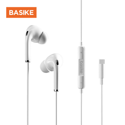 Foto Produk BASIKE Headset Wired Earphone Bass Headphone Android iPhone Original 3 - MT32 1C TYPE C dari Basike Official Store