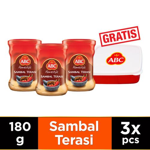Foto Produk ABC Sambal Terasi 180 g - Multipack 3 pcs Free Lunch Box dari ABC Official Store