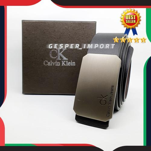 Foto Produk GESPER PRIA CK MODEL TUSUK IKAT PINGGANG TALI KULIT 2IN1 dari gesper_import