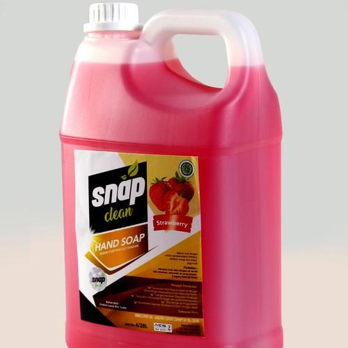 Foto Produk Sabun cuci tangan Hand soap snap clean strawberry dan lemon 4 L - Lemon dari mikael_shop