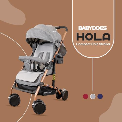 Foto Produk Stroller Baby Does BabyDoes Hola CH311 / Kereta Dorong Bayi - Grey dari Baby_World