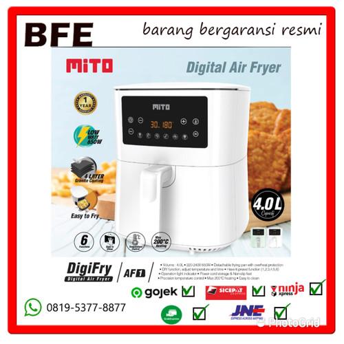 Foto Produk MITO AF1 Digital Air Fryer 4 Liter Low Watt- AirFryer DigiFry AF 1- - Hijau dari BFE