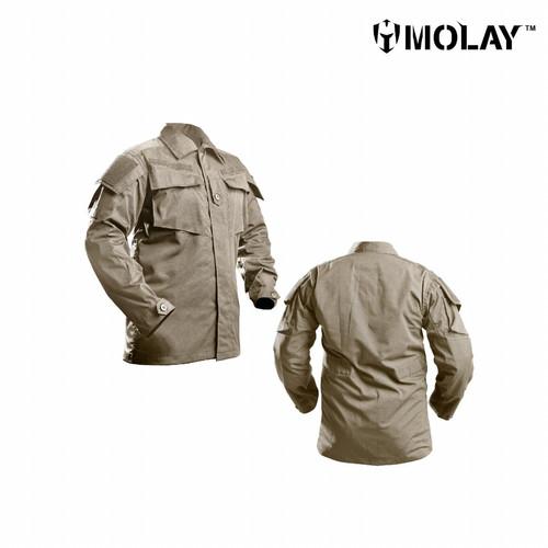 Foto Produk Kemeja Pria Molay™ Vegetata Uniform Blouse - Coyote Tan, S dari Molay