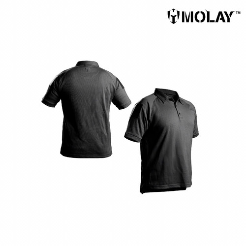 Foto Produk Kaos Polo Molay™ Advanced Striker Performance Shirt - Black, S dari Molay
