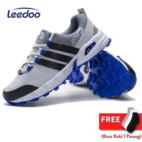Foto Produk Leedoo Sepatu Hiking Pria Sneakers Gunung Anti Air Outdoor Shoes MH206 - Abu-abu, 39 dari Leedoo