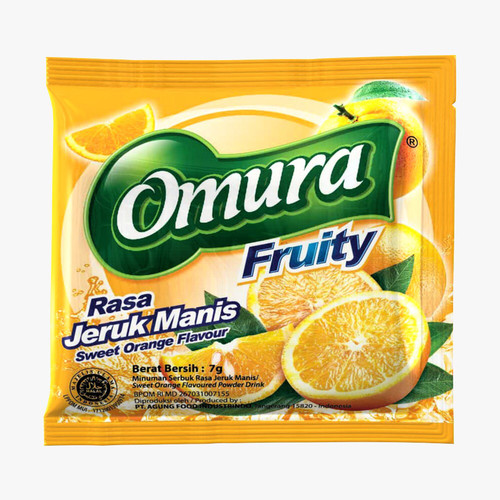 Foto Produk Bubuk minuman Omura Fruity Powder Drink Rasa Jeruk Manis/Sweet Orange dari Omura Shop
