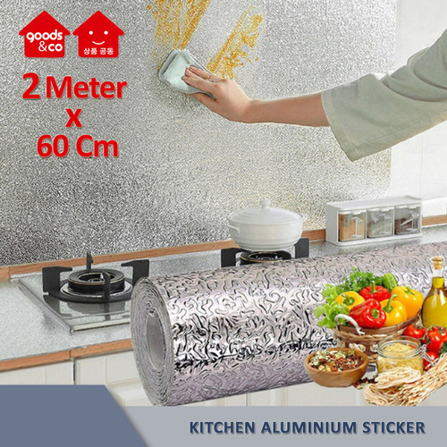 Foto Produk Sticker Dinding Dapur Aluminium Foil Anti Minyak Anti Air Anti Lembab - Diagonal dari Goods & Co