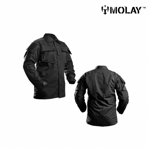 Foto Produk Kemeja Pria Molay™ Vegetata Uniform Blouse - Black, S dari Molay