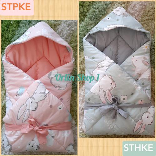 Foto Produk Selimut topi bayi / Selimut Bayi / Hoodie Blanket / Bedcover Bayi dari Elka Vori