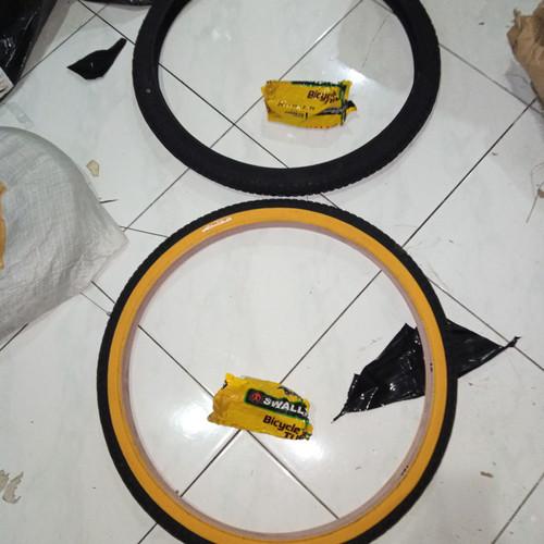 Foto Produk 1 paket Ban luar dalam 24 x 1.75 Sepeda Deli Tire Swallow 175 dari Sekawan Sepeda