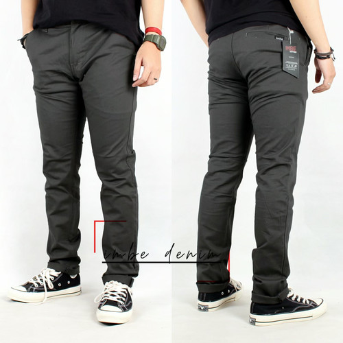 Foto Produk Celana Chino Panjang Big Size/Celana Chinos Pria Jumbo/Celana Cino 5XL - S, Abu-abu dari jekastoreid