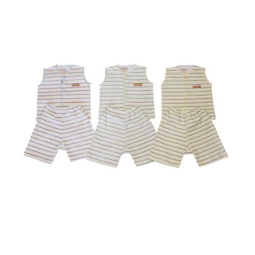 Foto Produk Stelan Bayi - CHIYO - Baju Kutung Dan Celana Pendek - Newborn - Biru dari Chiyo Babywear