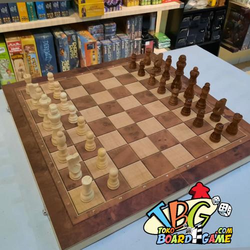 Foto Produk 3 in 1 Chess Checkers BackGammon - Board Game - Papan Catur - 29x29 dari Toko Board Game