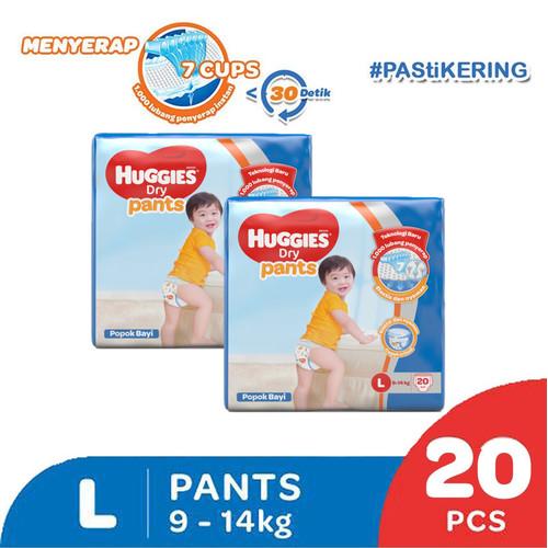 Foto Produk Buy 1 get 1 Free Huggies Dry Pants eco pack L 20 ED 2021 dari KOTEX HUGGIES INDONESIA