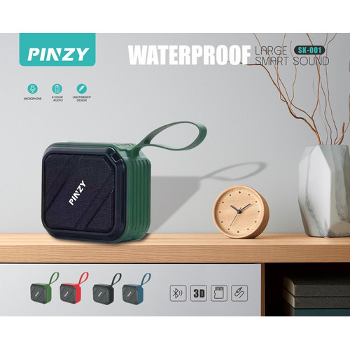 Foto Produk Speaker Bluetooth Portable PINZY SK-001 Waterproof dari PINZY Official Store
