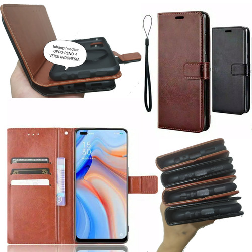 Foto Produk Standing Case OPPO RENO 4 Sarung Dompet lipat leather flip dari FerraruACC