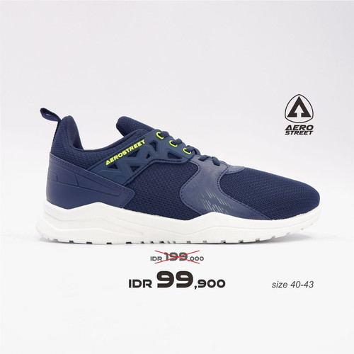 Foto Produk Aerostreet 40-43 Betroya Navy - Sepatu Sneakers Casual Sport Sekolah - 40 dari Aerostreet
