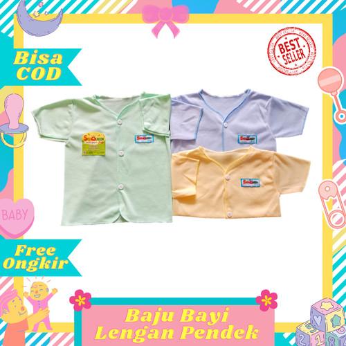 Foto Produk Terlaris Baju Lengan Pendek Bayi newborn Polos SNI halus murah dari Toko Bayi Hanifah