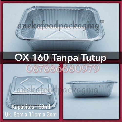 Foto Produk Wadah/cup aluminium foil Ox 160 dari anekafoodpackaging
