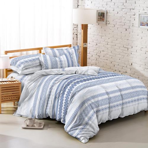 Foto Produk TOMOMI - BED COVER SET MICROTEX PRINT TRIBAL BLUE - 200X200 dari TOMOMI