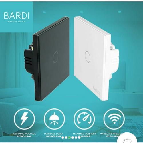 Foto Produk BARDI Smart Light Wall Switch Touch Saklar Lampu Sentuh Wifi EU 1 Gang dari Smart Home Devices