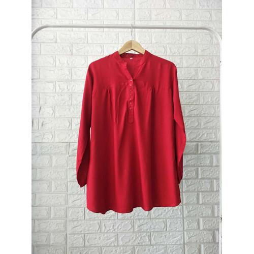 Foto Produk Blouse polos rayon Merah - 4L dari bajuibukk