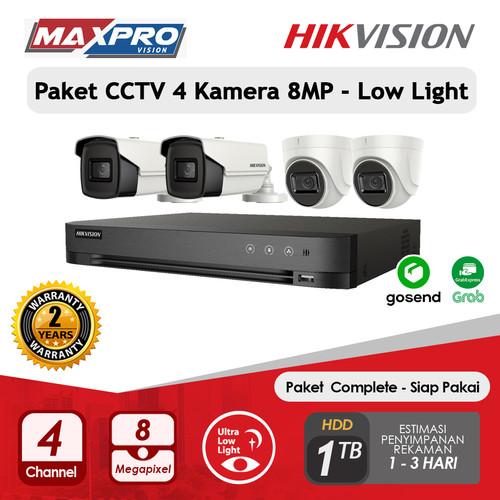 Foto Produk PAKET CCTV 4 CAMERA 8MP LOW LIGHT 1 TB HDD HIKVISION dari Maxpro Vision