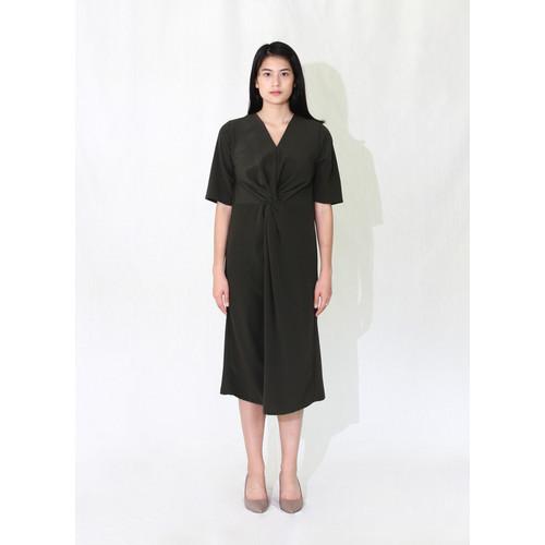 Foto Produk WASTU - DOUBLE HELIX DRESS - Hijau, S dari WASTU_STUDIO
