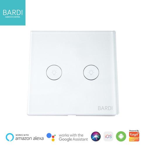 Foto Produk BARDI Smart Light Wall Switch Touch Saklar Lampu Sentuh Wifi EU 2 Gang dari Smart Home Devices