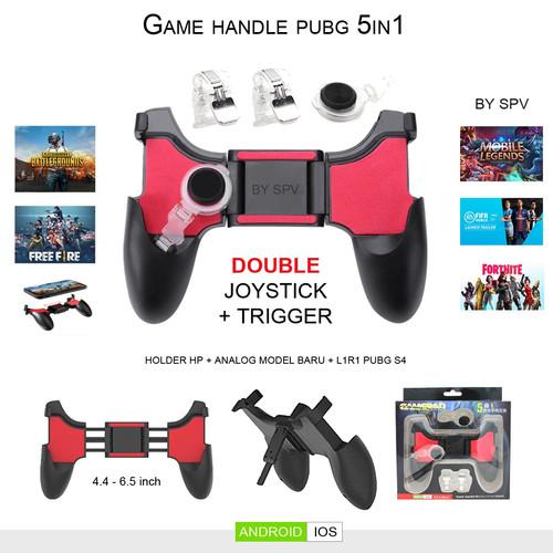 Foto Produk Gamepad Handle 5 In 1 - Joystick Game pad Pubg 5 in 1 dari Central Comm