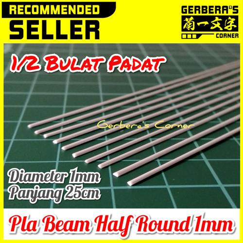 Foto Produk Plastic Beam Half Round 1mm Pla Beam Plastic Plate Custom Model Kit dari Gerbera's Corner