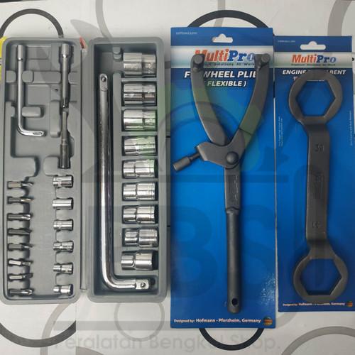 Foto Produk Paket hemat 3pcs Kunci Tracker CVT +Kunci Pulley 39x41+ kunci sock 2 dari peralatan bengkel shop