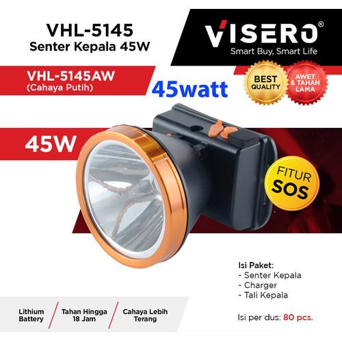 Foto Produk Senter kepala 45w cahaya putih VISERO VHL-5145 45w head lamp headlamp dari Warunglistrik