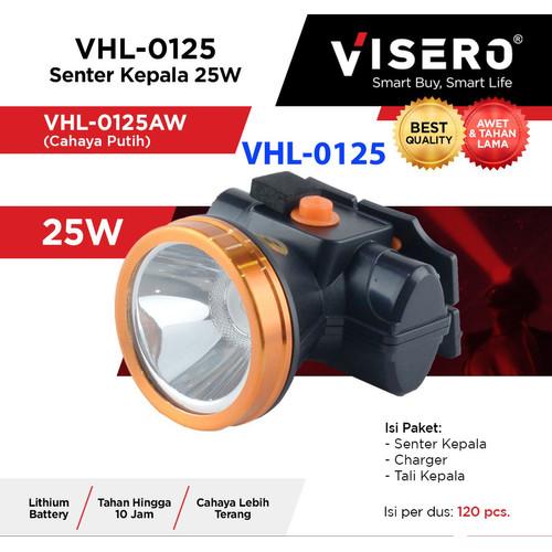 Foto Produk Senter kepala 25w cahaya putih VISERO VHL-0125 25w head lamp headlamp dari Warunglistrik