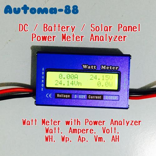 Foto Produk DC Watt Meter Volt Ampere kwh meter 60 Volt 100A dari Automa-88