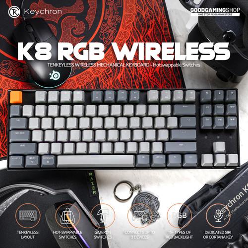 Foto Produk Keychron K8 RGB Hotswap - Wireless Gaming Keyboard dari GOODGAMINGM2M