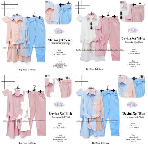 Foto Produk New Davina Set Setelan Celana Wanita Jumbo Baju Kerja Big Size Modis dari Ilyassa Shop