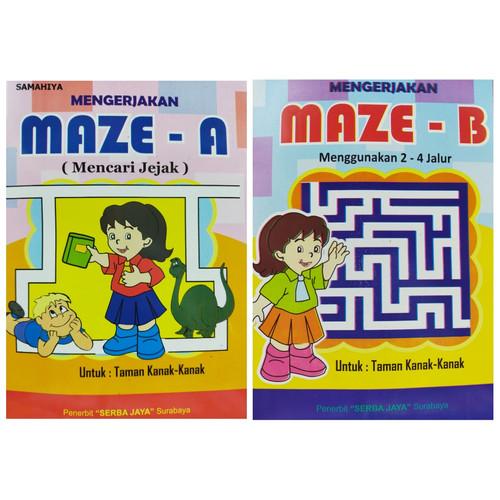 Foto Produk Buku Mengerjakan Maze / Buku Mencari Jejak Untuk Anak TK/PAUD - Jilid B dari Toko Buku dan Stationery