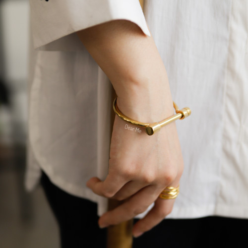 Foto Produk Dear Me - Zelda Bracelet (Titanium 14K Gold Plated) Gelang Wanita Cewe dari Dear Me Jewelry